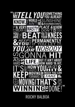 Rocky Balboa Motivational Speech 12 X18 Poster Total
