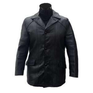 Vintage Identical-Brand Rocky Balboa Black Leather Jacket