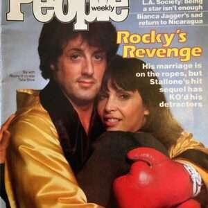 "Vintage Sylvester Stallone, Talia Shire ""Rocky's Revenge"" People Magazine (1979)"