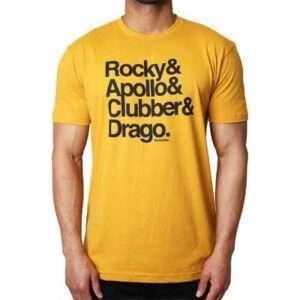 Rocky Heavyweights Character Names T-Shirt