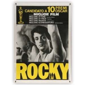 Vintage 1977 Theatrical One-Panel ROCKY Movie Poster (Italian)