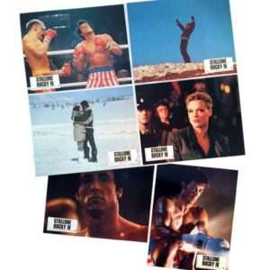 Vintage ROCKY IV Set of 6 French Lobby Cards 1985