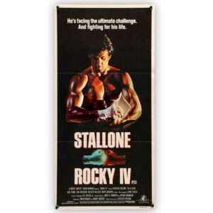 Vintage ROCKY IV Theatrical Australian Daybill Movie Poster