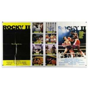 Vintage 1979 ROCKY II Triple-Artwork One Stop Poster HUGE SIZE!