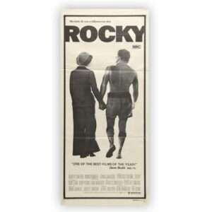 Vintage 1977 ROCKY Theatrical Daybill Movie Poster